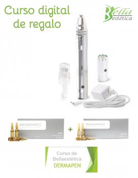 Pack Dermapen acero+ puntas+viales+curso online